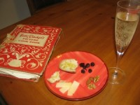 Tapas Style Happy Hour Snack with Champagne – 250 calories