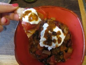 Vegetarian Chili with Healthy Tortilla Chips Recipe