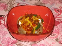 Smothered Veggie Lover's Baked Potato- 333 calories
