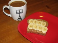 Banana Almond Toast  – 200 calories