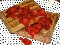 Healthy Strawberry Shortcake Waffles