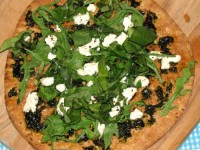Basil and Goat Cheese Pizza with Arugula