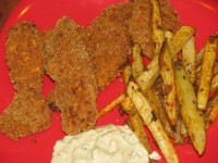 Chicken Strips and Fries – 245 calories
