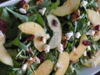 Fruit and Nut Spinach Salad with Mustard Vinaigrette