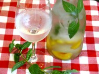 Cooling Peach and Mint Infused Water