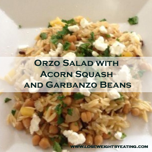 Orzo Salad with Acorn Squash and Garbanzo Beans