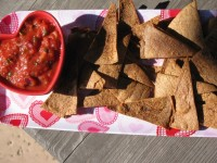 Homemade Chips and Salsa- 40 calories