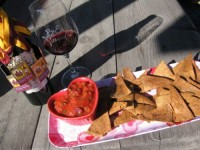 Healthy Tortilla Chips with Homemade Salsa