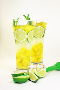 Fruit Infused Mango Mojito Water
