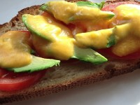 Yummy Avocado Cheese Toast with Tomatoes