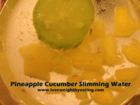 Sweet and Delicious Pineapple Cucumber Water