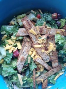 This Mexican Caesar Salad is full of Vitamin C, Omega-3 and Vitamin B12 for healthy nerves and pain relief.