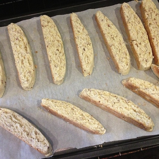 Then you slice and bake a little more. #biscotti #baking #afterphoto