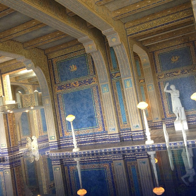 The indoor pool, covered in GOLD! #hearstcastle