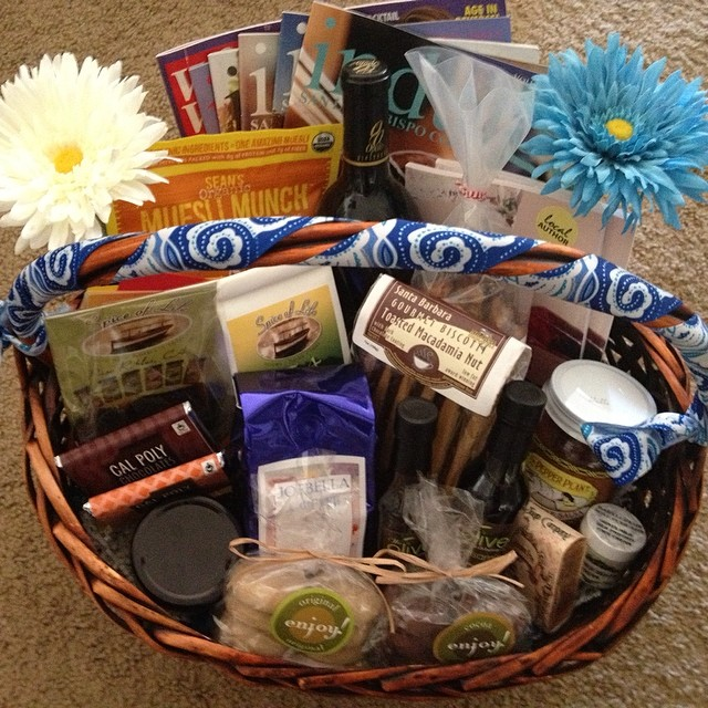 The basket is done (and I totally kept some cookies for myself!) it's for a new family visiting from Australia. I love living on the Central Coast, just look at all the location famous products!! #slo #pasorobles #atascadero #centralcoast #foodandwine