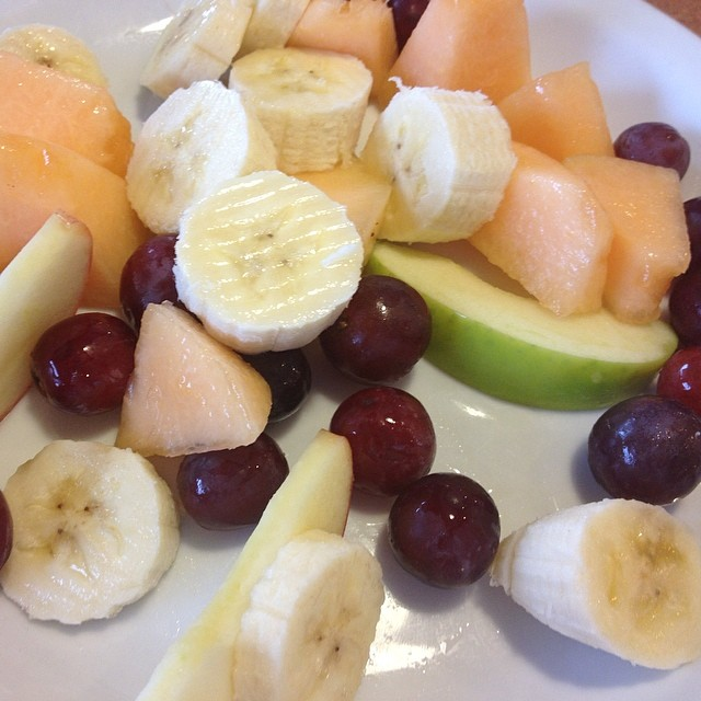 If you must eat at a brand name diner.... Chris really wanted to use his free breakfast coupon at Denny's and I really wanted coffee. So I ordered a huge plate if fruit, surprisingly fresh and delicious! #diner #dennys #healthyoptions #breakfast #breakfastofchampions #fruit #coffeelove