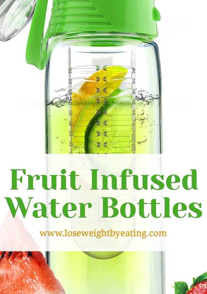 water bottle with fruit infuser is a potato a fruit