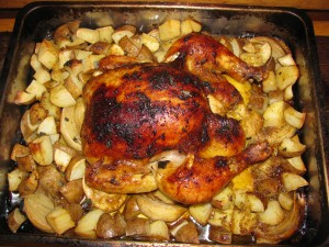 Baked Chicken With Onions