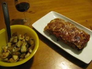 Meatloaf Parmesan and Rosemary Potatoes