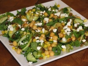 Green and Yellow Salad with Honey Mustard Vinaigrette