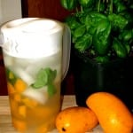 Mango Infused Water with Basil