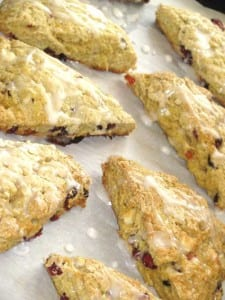 Healthy Peach and Cranberry Scones