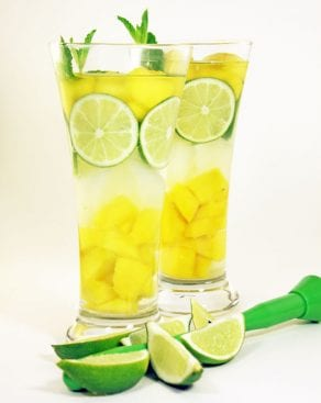 Mango Mojito Infused Water Recipe