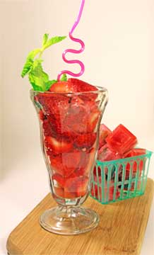 Strawberry Mint Soda